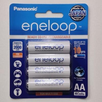 Panasonic eneloop AA, 4 Rechargeable Battery