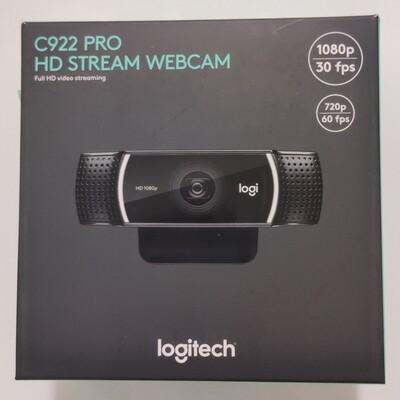 Logitech C922 Pro Stream Full HD Webcam, 1080p/30fps