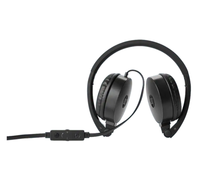 HP H2800 Stereo Headset with Mic, Black