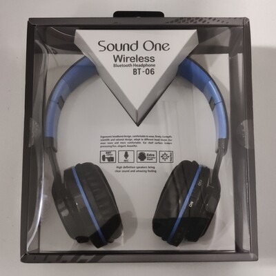Sound One BT-06 Bluetooth Headphones, Black