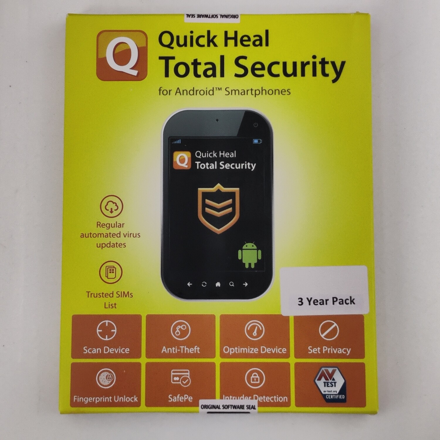 1 Device, 3 Year, Quick Heal Total Security, Android