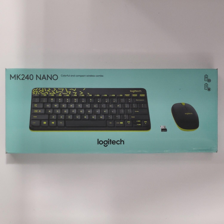 Logitech MK240 Wireless Keyboard Mouse, yellow