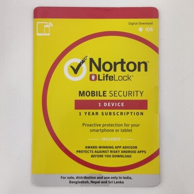 Norton Mobile Security, 1 Device, 1 Year