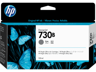 HP 730B 130-ml Gray DesignJet Ink Cartridge