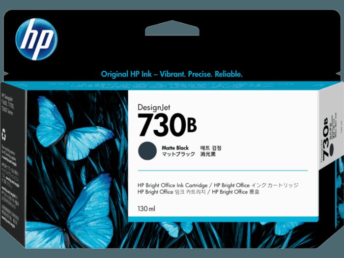 HP 730B 130-ml Matte Black DesignJet Ink Cartridge