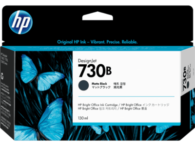 HP 730B 130-ml Matte Black DesignJet Ink Cartridge