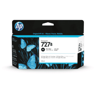 HP 727B 130-ml Photo Black DesignJet Ink Cartridge