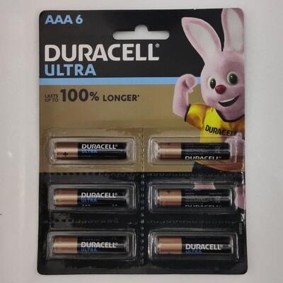 Duracell Ultra AAA, 6 Batteries