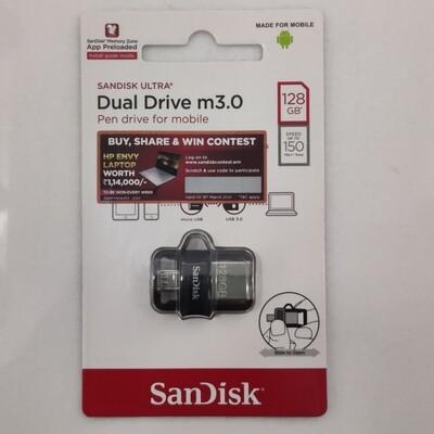 Sandisk 128GB OTG Pen Drive, 3.0, DD3