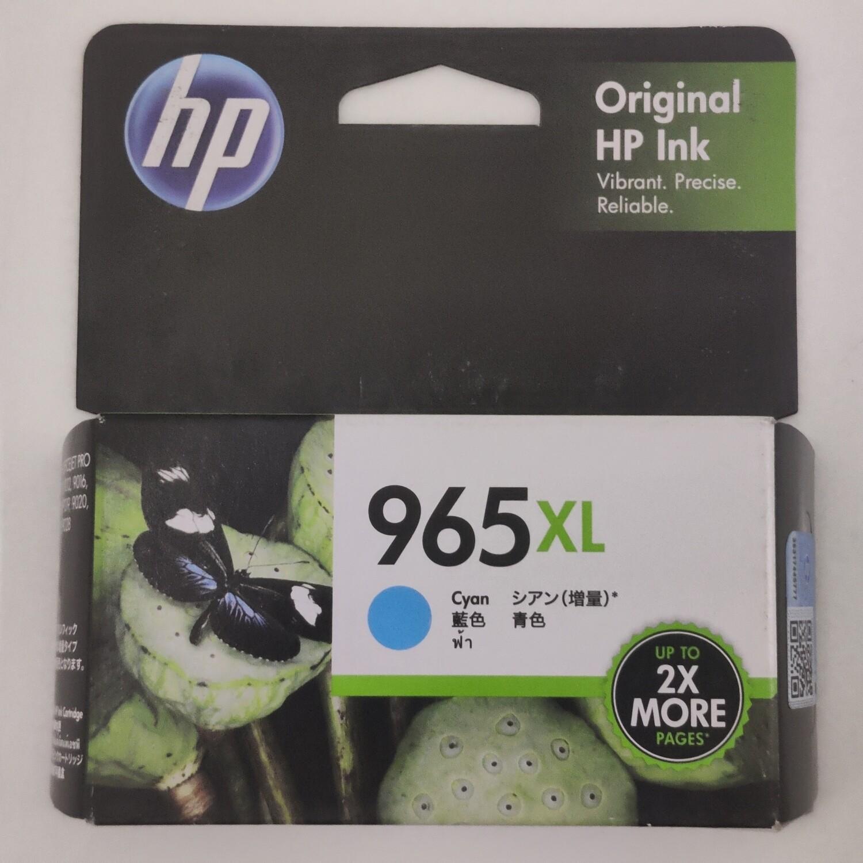 HP 965XL Ink Cartridge, Cyan, 3JA81AA
