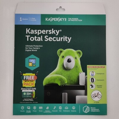 1 User, 1 Year, Kaspersky Total Security