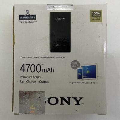 Sony 4700 mAh Li-Polymer Power Bank, Black
