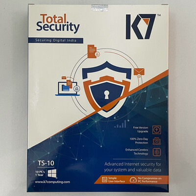 10 User, 1 Year, K7 Total Security
