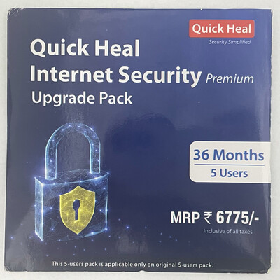 Upgrade Pack, 5pc, 3year, Quick Heal Internet Security