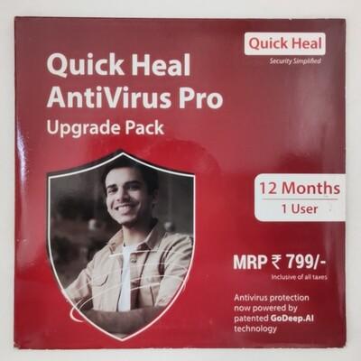 Renewal, 1 User, 1 Year, Quick Heal Antivirus Pro
