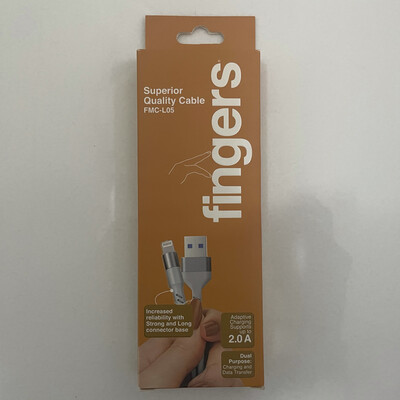 Fingers 1mtr Lighting to USB Cable