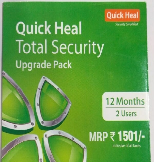 Renewal, 2 User, 1 Year, Quick Heal Total Security
