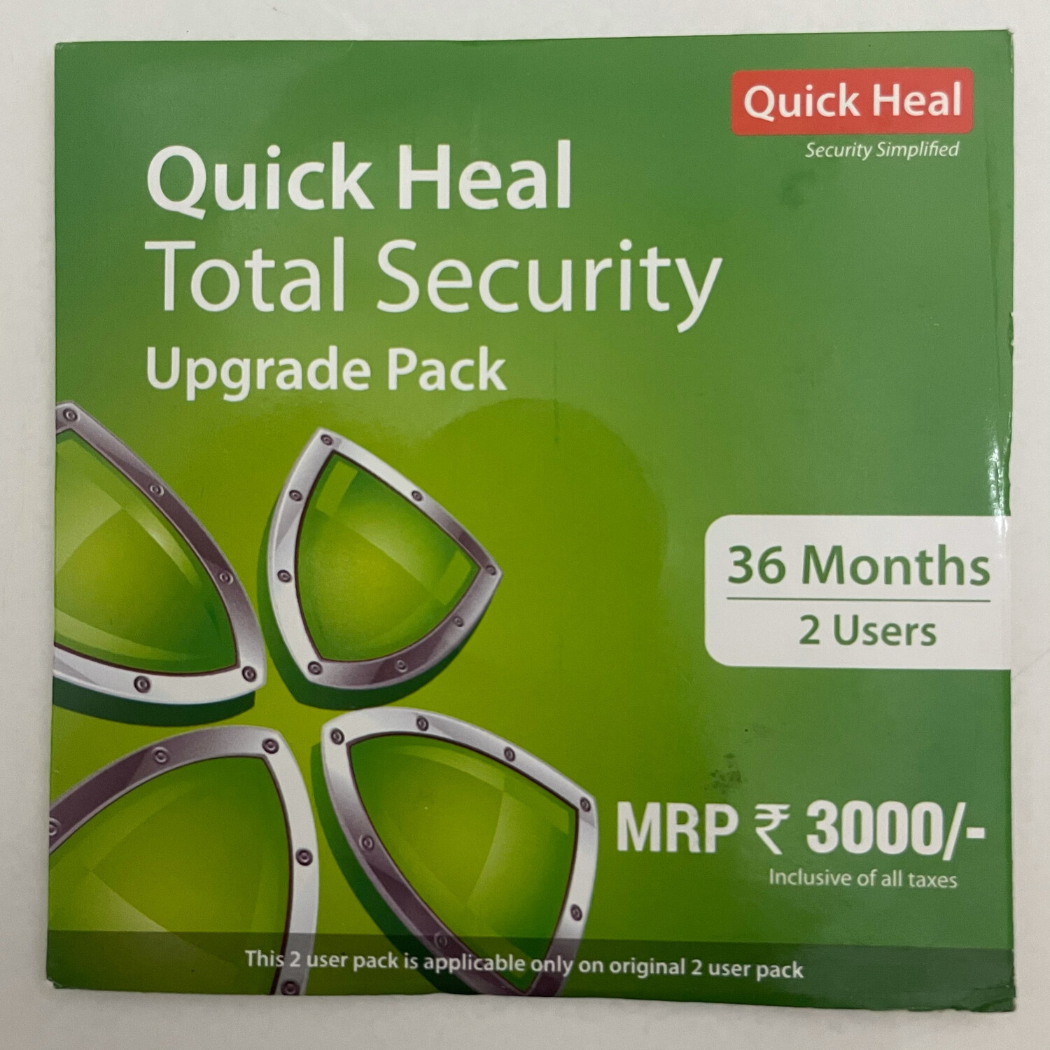 Renewal, 2 User, 3 Year, Quick Heal Total Security