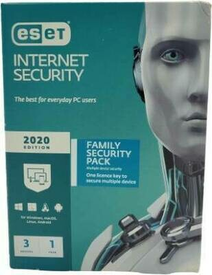 3 Device, 1 Year, Eset internet Security, Single Key
