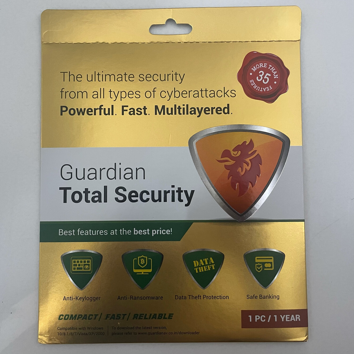 1 User, 1 Year, Guardian Total Security