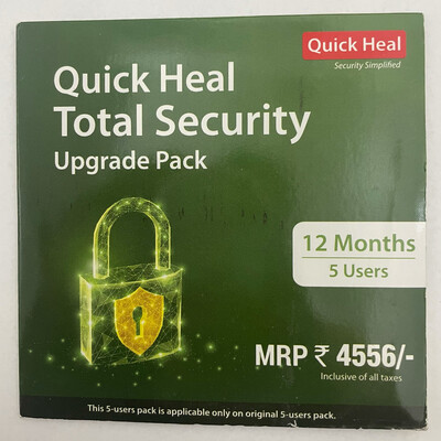 Renewal, 5 User, 1 Year, Quick Heal Total Security