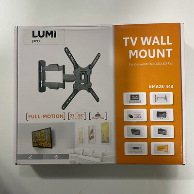 Lumi Pro Full Motion TV Wall Mount, KMA28-443, 23inch to 55inch,