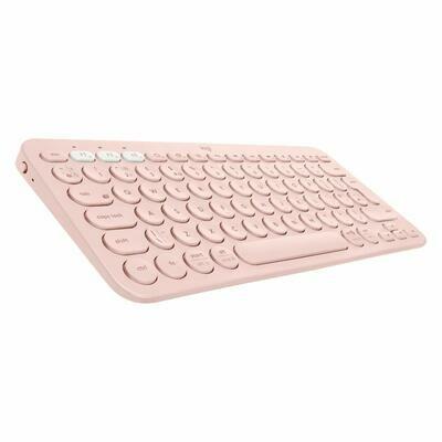 Logitech K380 Wireless Multi-Device Bluetooth Keyboard { Rose Gold }