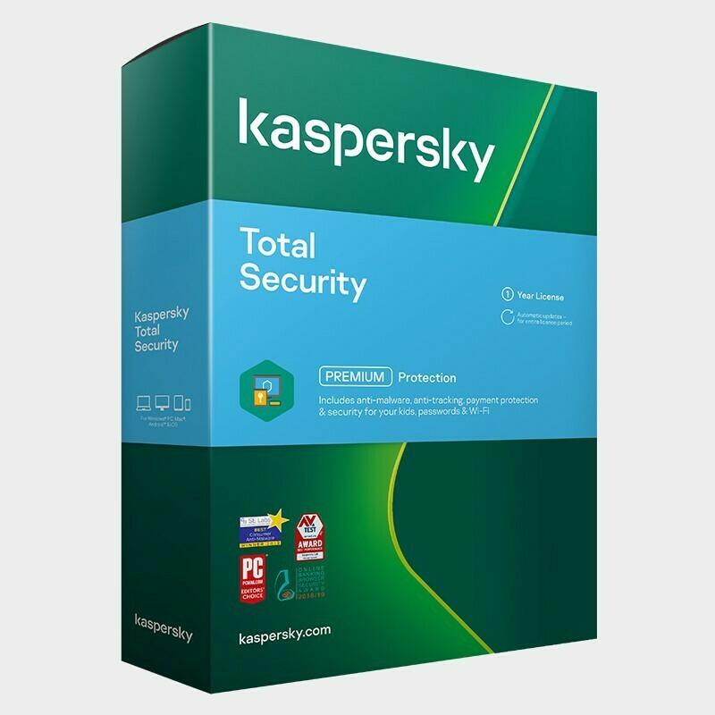 3 User, 1 Year, Kaspersky Total Security