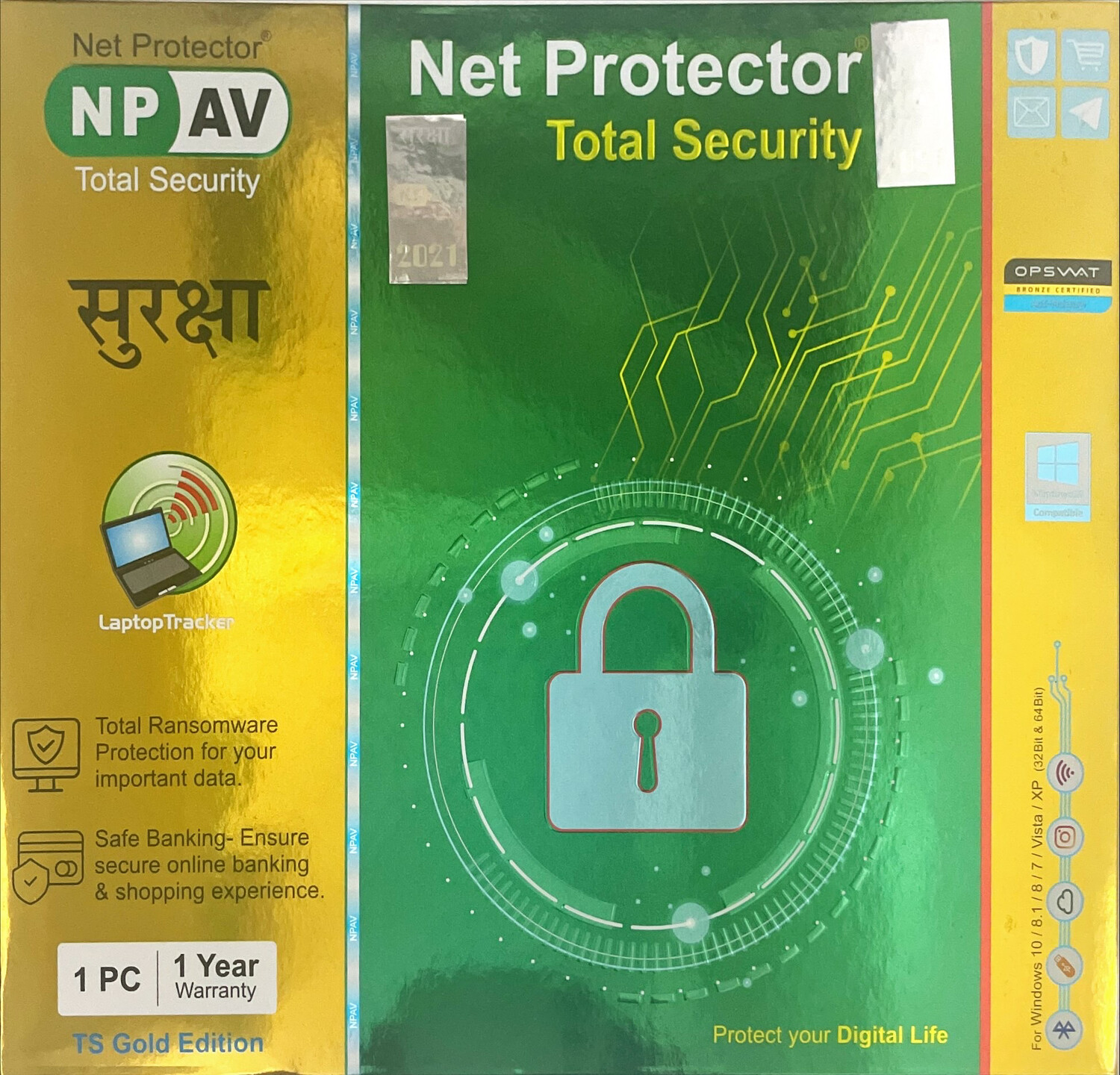 1 User, 1 Year, Net Protector Total Security