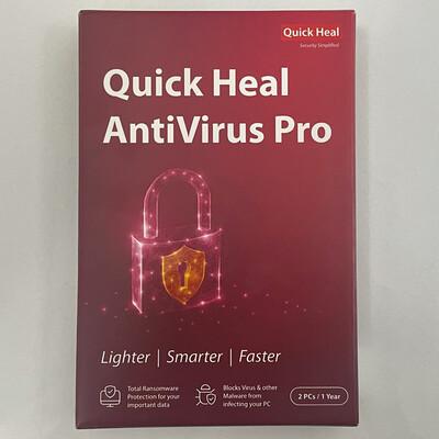 2 User, 1 Year, Quick Heal Antivirus Pro