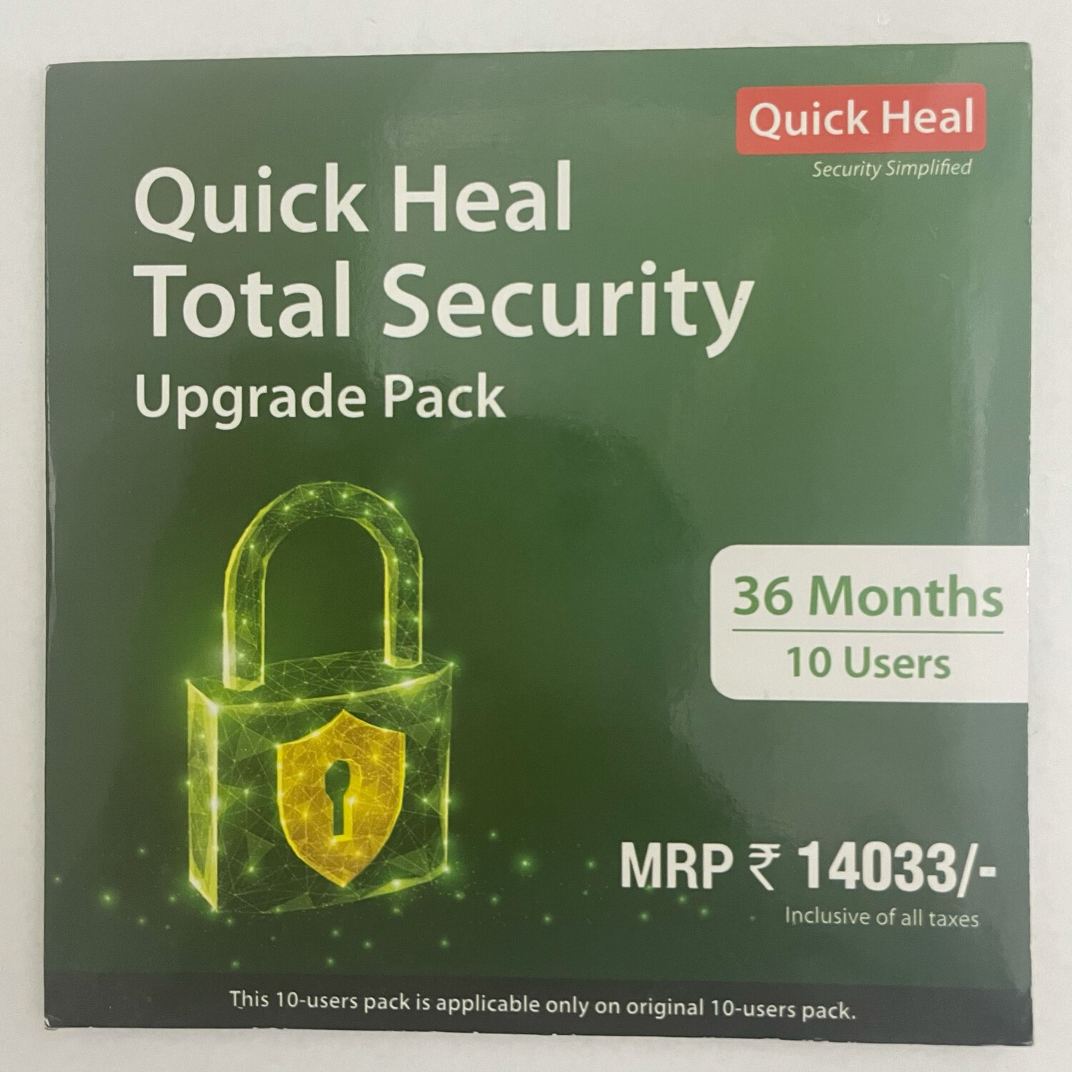 Renewal, 10 User, 3 Year, Quick Heal Total Security