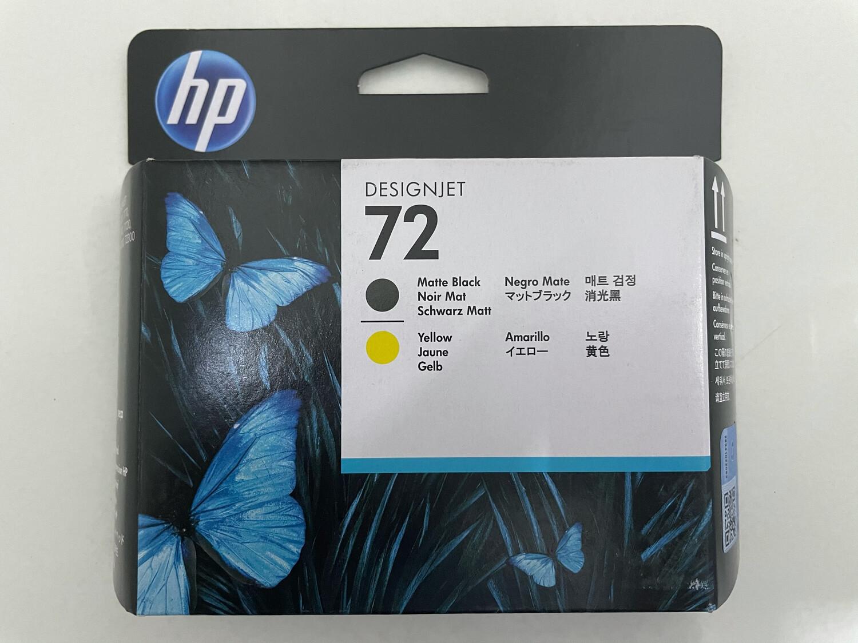 HP 72 Printhead, Matte Black and Yellow, C9384A
