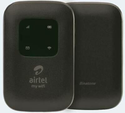 Airtel 4G LTE Hotspot BMF422 Portable WiFi Data Card, Black