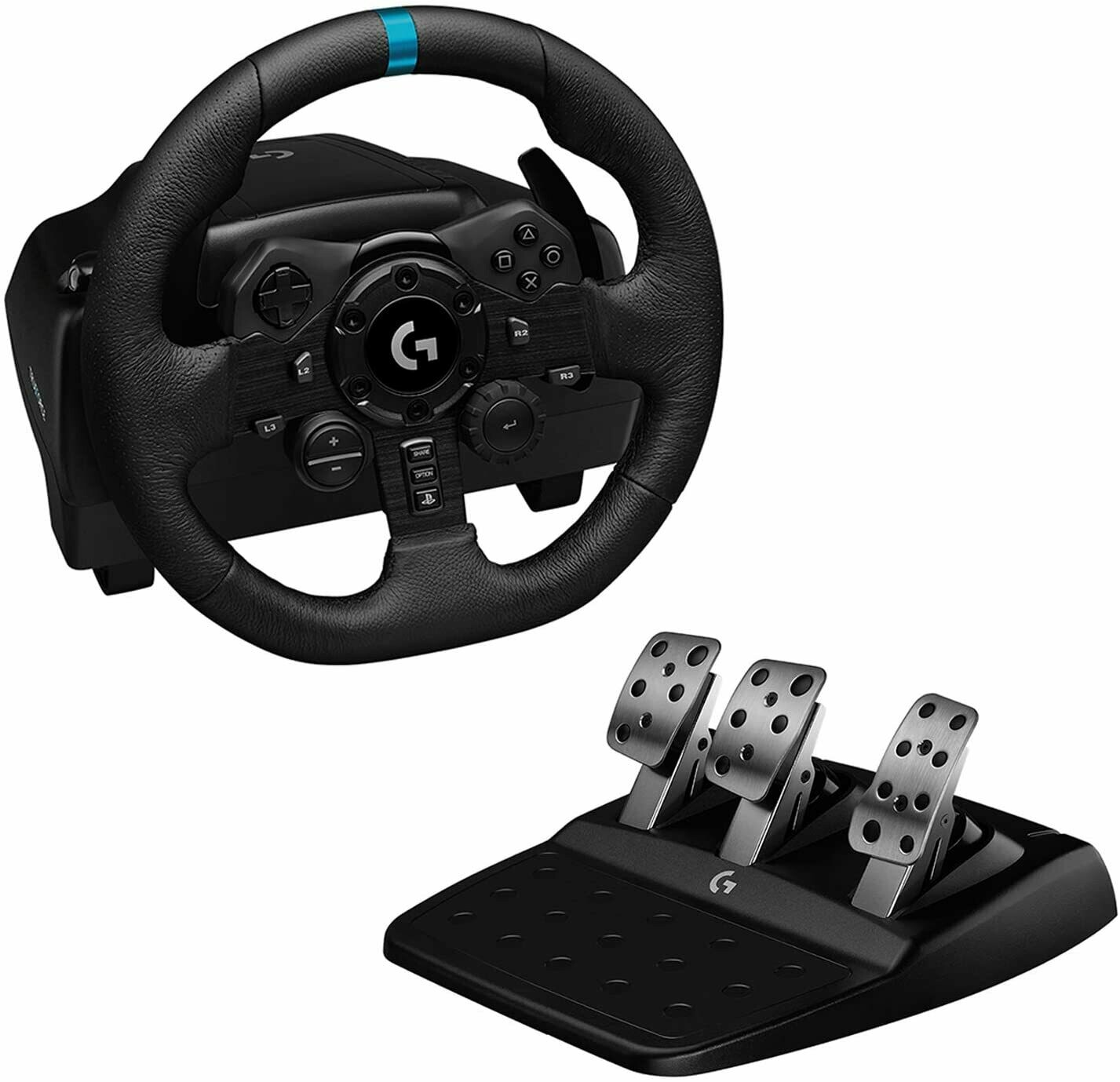 Logitech G923 Racing Wheel and Pedals, TRUEFORCE 1000 Hz Force
