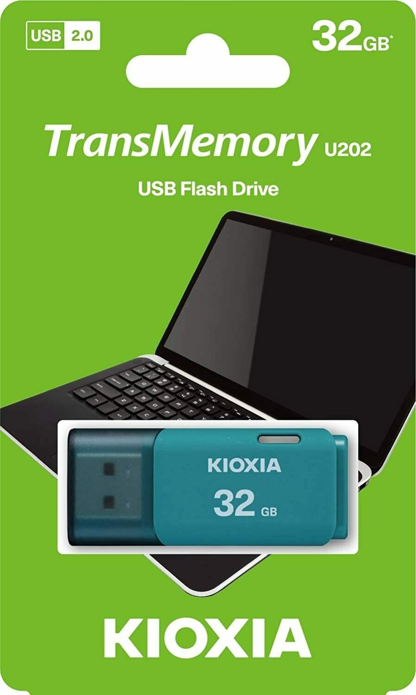 Kioxia U202 32GB USB2.0 PenDrive Light Blue LU202L032GG4