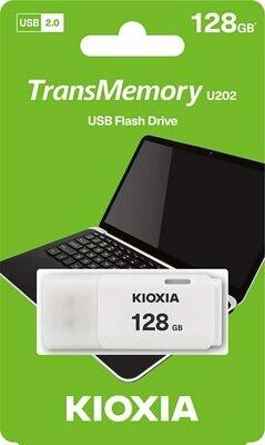 Kioxia U202 128GB USB PenDrive 2.0 White LU202W128GG4