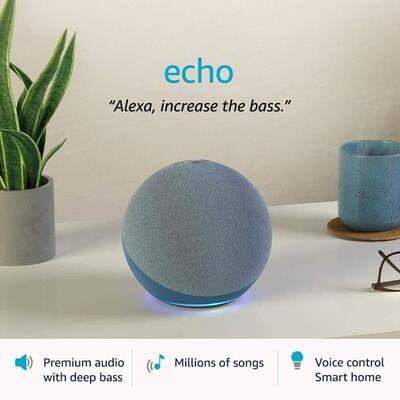 Amazon All-new Echo (4th Gen) {Blue}