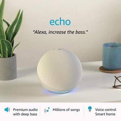 Amazon All-new Echo (4th Gen) {White}