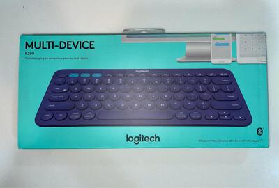 Logitech K380 Multi-Device Bluetooth Keyboard, Blue