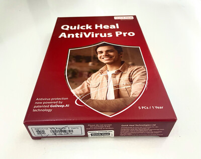 5 User, 1 Year, Quick Heal Antivirus Pro