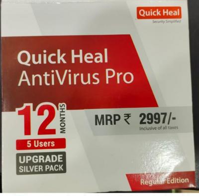 Upgrade Pack, 5pc, 1year, Quick Heal Antivirus Pro