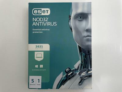 5 User, 1 Year, Eset Antivirus, NOD32