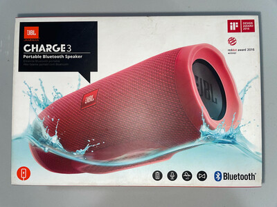 JBL Charge 3 Wireless Portable Speaker, Red