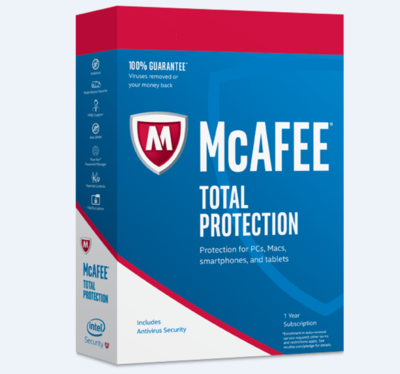 2 User, 1 Year, McAfee Total Protection