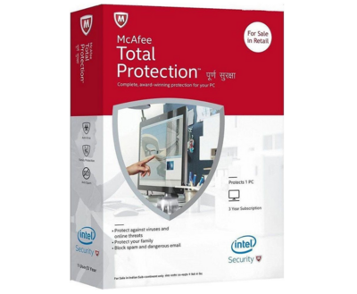 1 User, 3 Year, Mcafee Total Protection