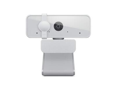 Lenovo™ 300 FHD Webcam with Full Stereo Dual Built-in mics, White