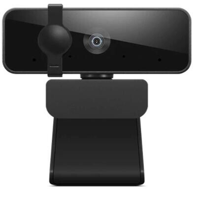 Lenovo FHD Webcam with Full Stereo Dual Built-in mics | FHD 1080P, Black