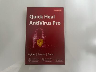 10 User, 3 Year, Quick Heal Antivirus Pro
