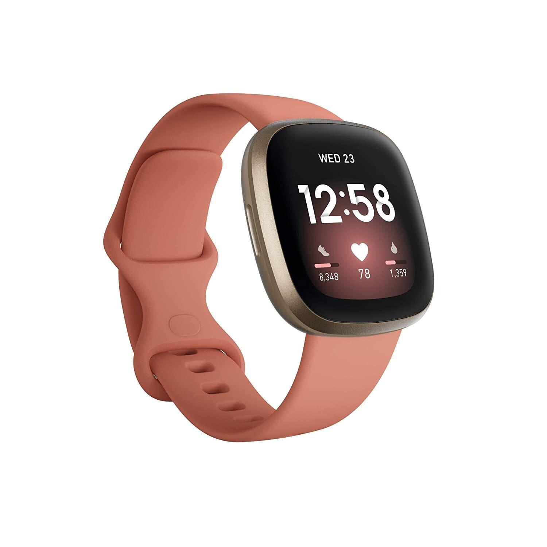 Fitbit Versa 3 Health & Fitness Smartwatch,Pink/Gold