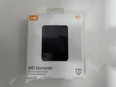 WD 1TB Elements External Hard Drive